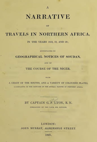 Aquatint & Lithography - A Narrative of Travels in Northern Africa