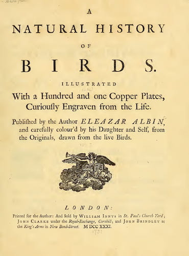 Aquatint & Lithography - A Natural History of Birds Vol. 1