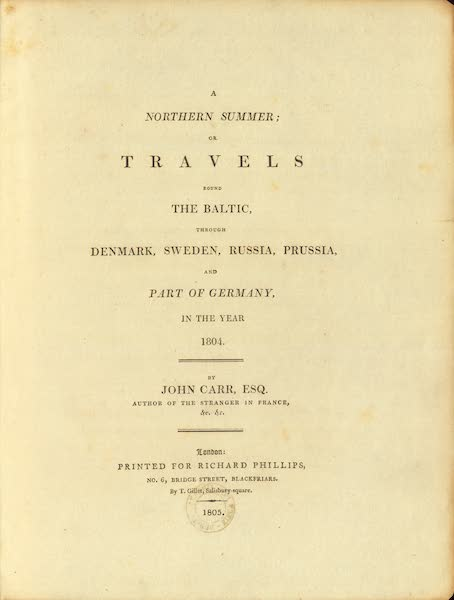 A Northern Summer - Title Page (1805)