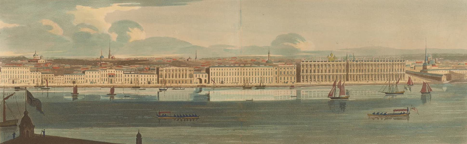 A Northern Summer - Petersburg taken from the steeple of St. Peter and St. Paul (1805)