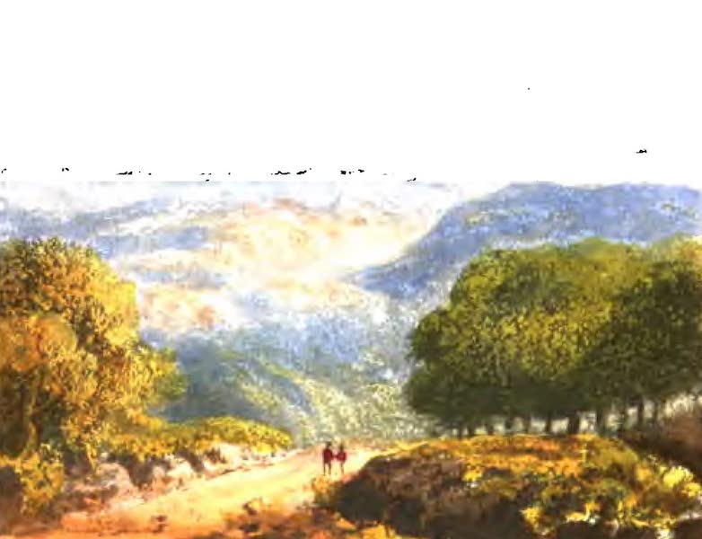 A Picturesque and Descriptive Tour in the Mountains of the High Pyrenees - Distant Mountains of the Pyrenees as seen from Villeneuve de Marsan (1825)
