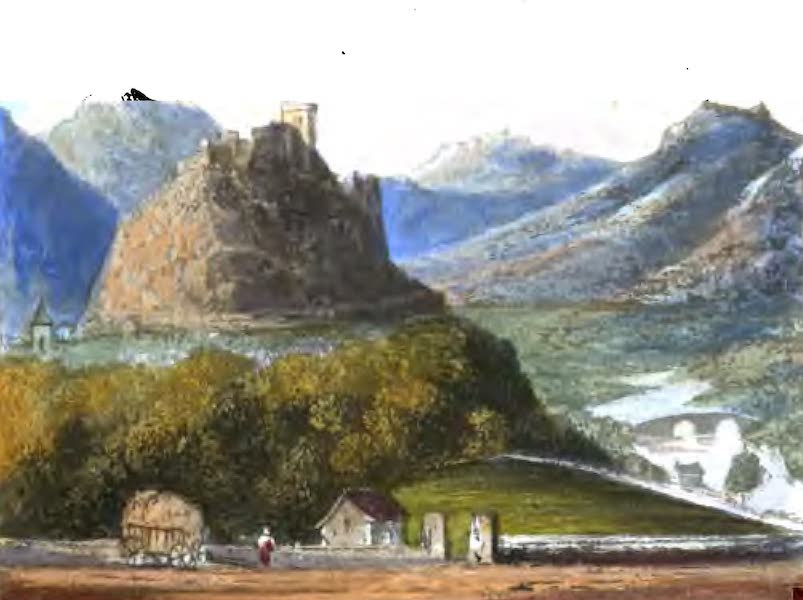 A Picturesque and Descriptive Tour in the Mountains of the High Pyrenees - The Castle of Lourdes (1825)
