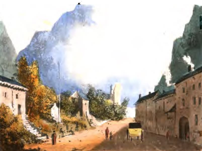 A Picturesque and Descriptive Tour in the Mountains of the High Pyrenees - Village of Pierre-Fitte (1825)