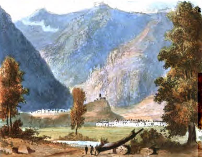 A Picturesque and Descriptive Tour in the Mountains of the High Pyrenees - The Castle and part of the Valley of Luz (1825)