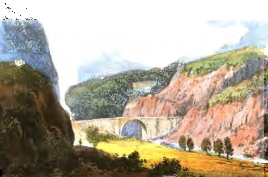A Picturesque and Descriptive Tour in the Mountains of the High Pyrenees - Approach to Saint Sauveur (1825)