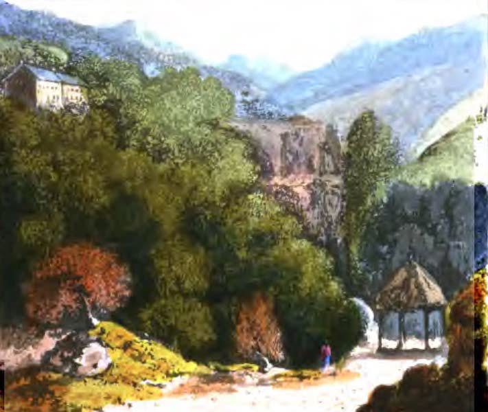 A Picturesque and Descriptive Tour in the Mountains of the High Pyrenees - View from the Promenade at St Sauveur (1825)