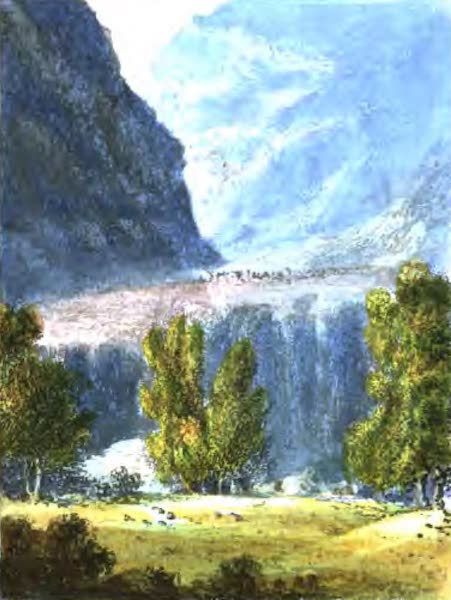 A Picturesque and Descriptive Tour in the Mountains of the High Pyrenees - The Defile leading to Gavarnie (1825)