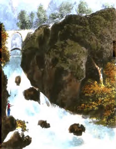 A Picturesque and Descriptive Tour in the Mountains of the High Pyrenees - Bridge of Sia (1825)