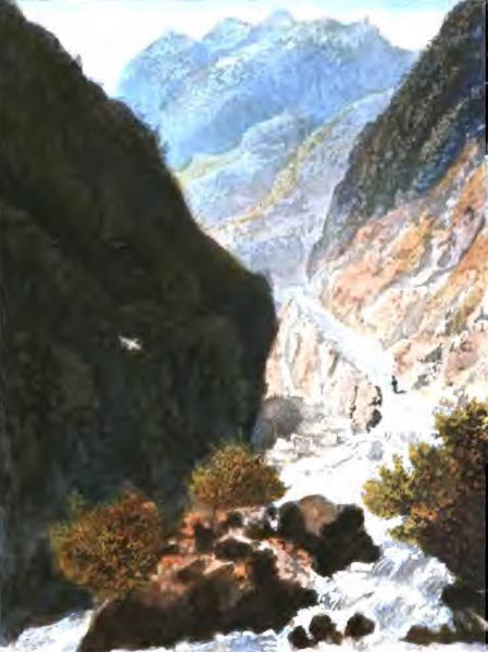 A Picturesque and Descriptive Tour in the Mountains of the High Pyrenees - Defile near the Bridge of Sia (1825)