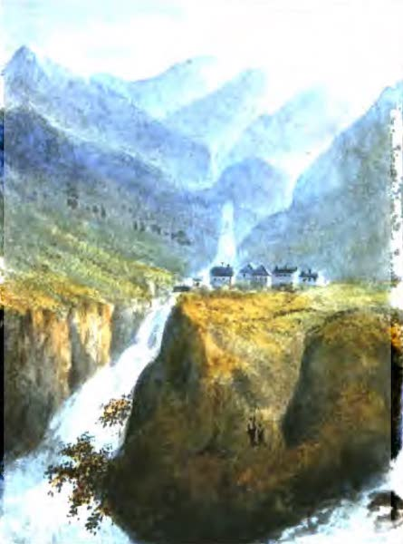 A Picturesque and Descriptive Tour in the Mountains of the High Pyrenees - Cascades & Village of Grip (1825)