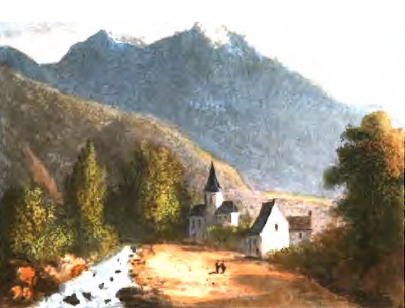 A Picturesque and Descriptive Tour in the Mountains of the High Pyrenees - Village of St Marie in the Valley of Campan (1825)