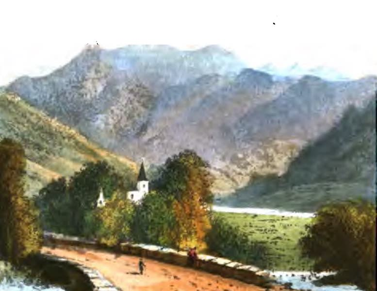 A Picturesque and Descriptive Tour in the Mountains of the High Pyrenees - Priory of St Paul, the Pic du Midi in the Distance (1825)