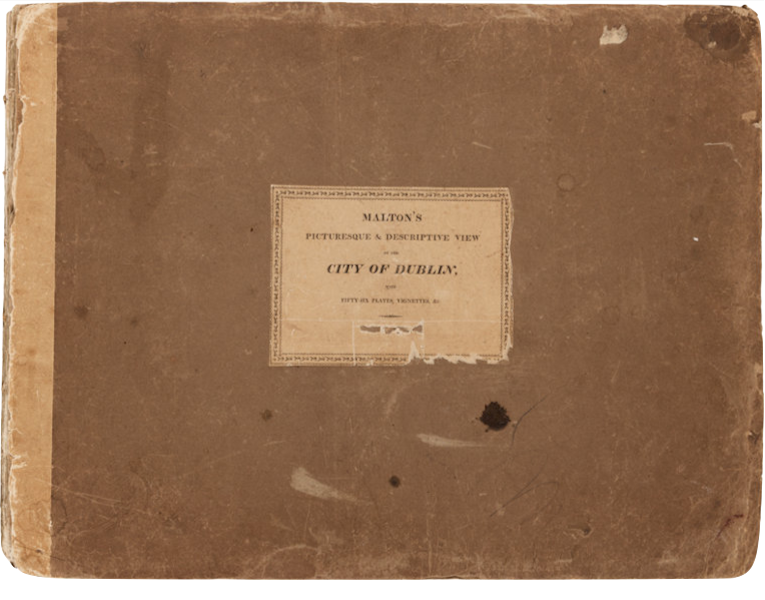 A Picturesque and Descriptive View of the City of Dublin - Front Cover (1811)