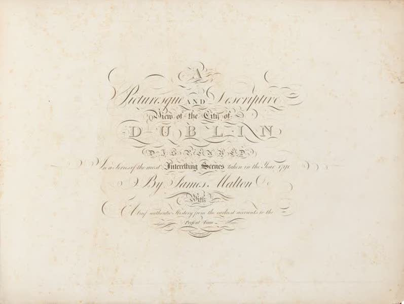 A Picturesque and Descriptive View of the City of Dublin - Title Page (1811)