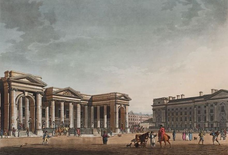 A Picturesque and Descriptive View of the City of Dublin - The Parliament House, Dublin (1811)