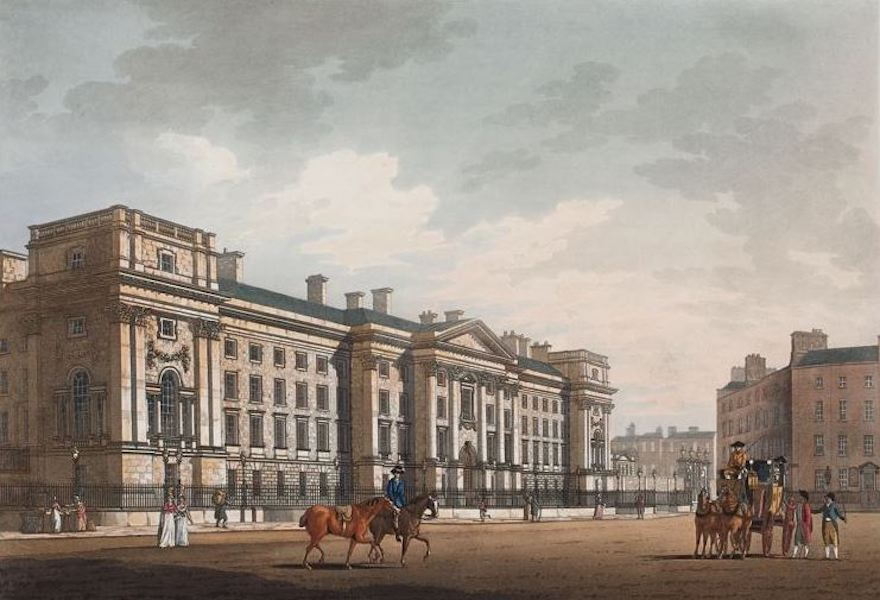 A Picturesque and Descriptive View of the City of Dublin - Trinity College, Dublin (1811)
