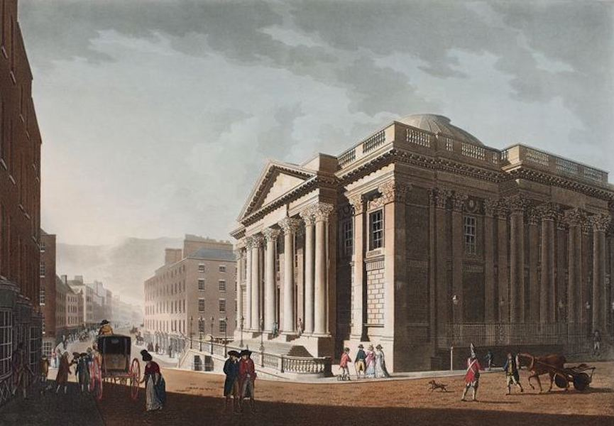 A Picturesque and Descriptive View of the City of Dublin - Royal Exchange, Dublin (1811)