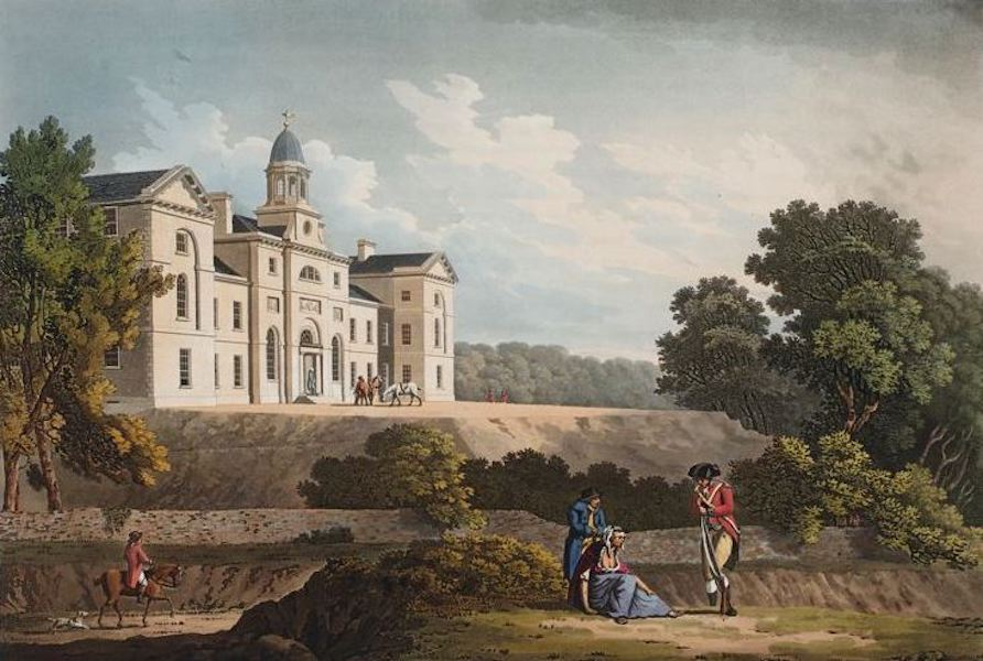 A Picturesque and Descriptive View of the City of Dublin - Royal Infirmary Phoenix Park, Dublin (1811)