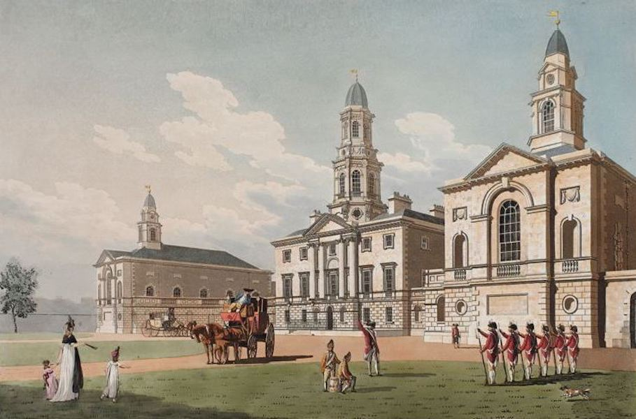 A Picturesque and Descriptive View of the City of Dublin - Blue Coat Hospital, Dublin (1811)