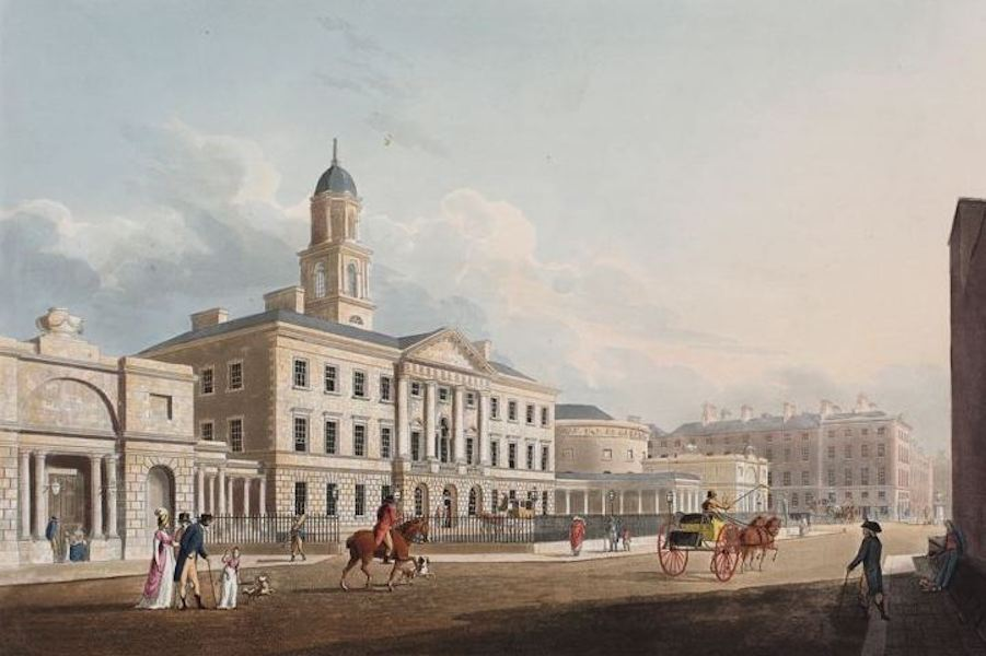 A Picturesque and Descriptive View of the City of Dublin - Lying in Hospital, Dublin (1811)