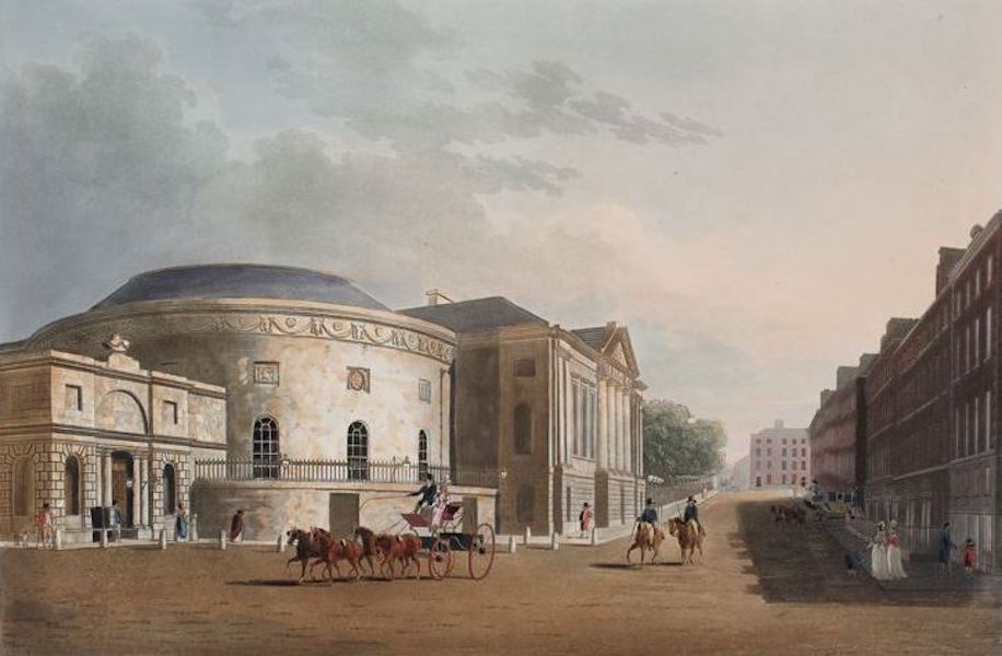 A Picturesque and Descriptive View of the City of Dublin - Rotunda and New Rooms, Dublin (1811)