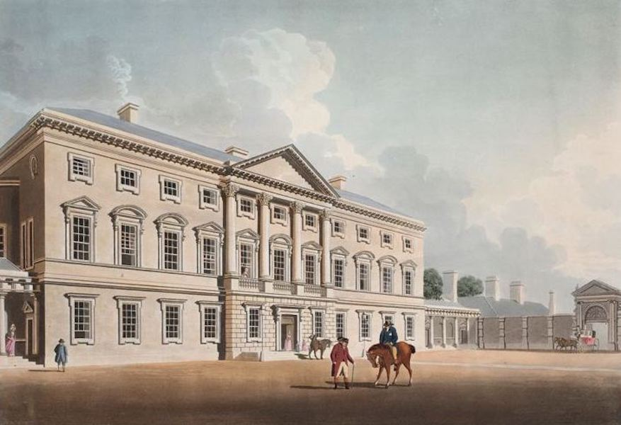 A Picturesque and Descriptive View of the City of Dublin - Leinster House, Dublin (1811)