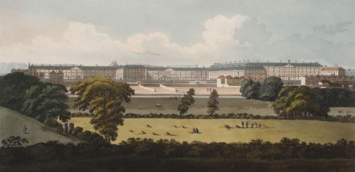 A Picturesque and Descriptive View of the City of Dublin - Barracks, Dublin (1811)