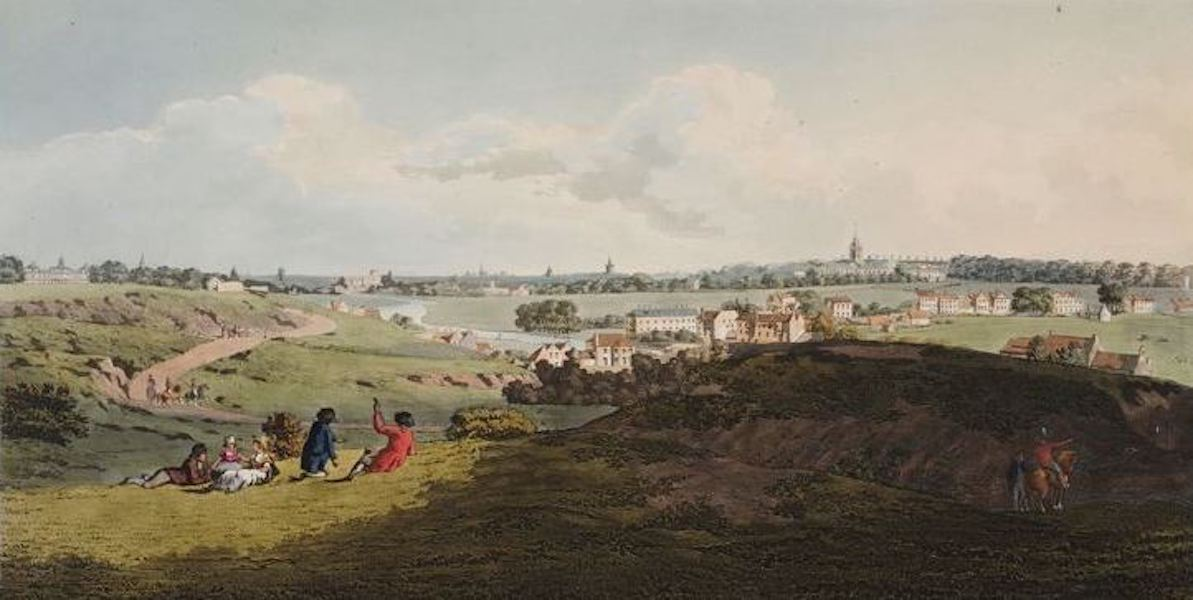 A Picturesque and Descriptive View of the City of Dublin - View of Dublin from the Magazine, Phoenix Park (1811)