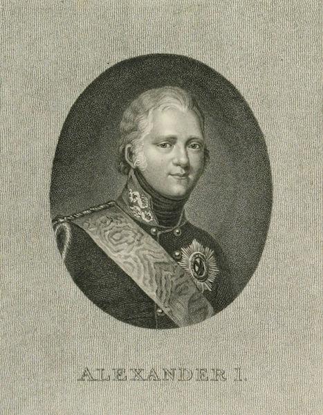 A Picturesque Representation of the Russians Vol. 1 - Portrait of Alexander I (1803)