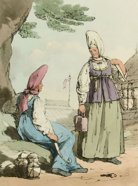 A Picturesque Representation of the Russians Vol. 1 - Ochta Milkwomen (1803)