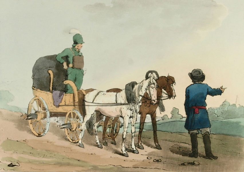 A Picturesque Representation of the Russians Vol. 1 - Summer Kibitka, with a Courier (1803)