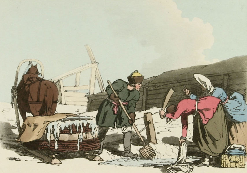 A Picturesque Representation of the Russians Vol. 1 - Fetching Water & rinsing Cloaths (1803)