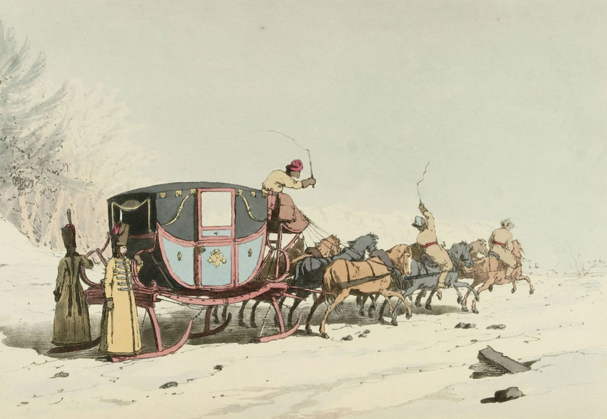A Picturesque Representation of the Russians Vol. 1 - Carriage on Sledges (1803)