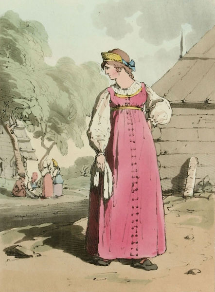A Picturesque Representation of the Russians Vol. 1 - Peasant Girl (1803)