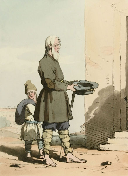 A Picturesque Representation of the Russians Vol. 1 - Finland Beggar (1803)