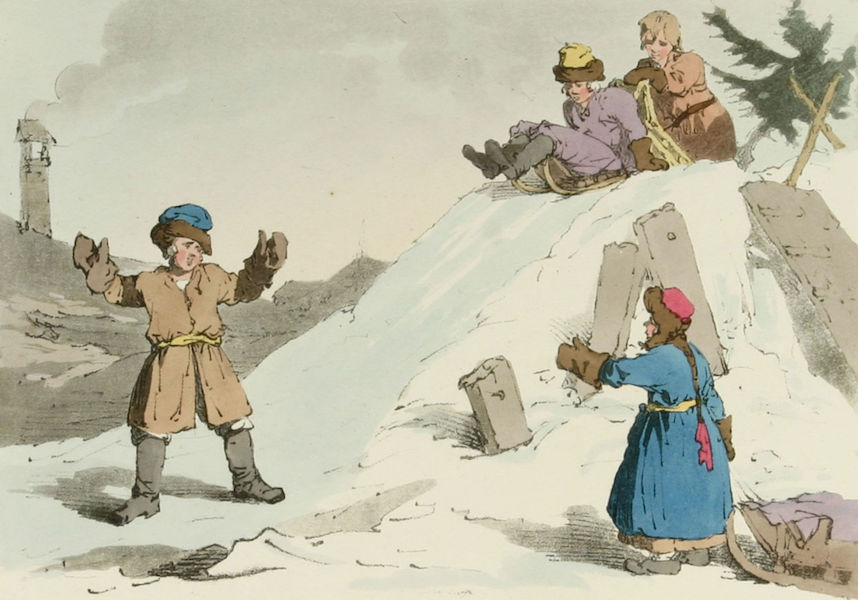 A Picturesque Representation of the Russians Vol. 2 - Children going down on an Ice Hill (1804)