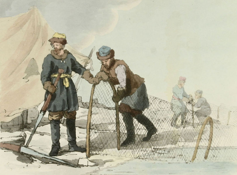 A Picturesque Representation of the Russians Vol. 2 - Winter Fishery (miss captioned as Summer Fishery) (1804)