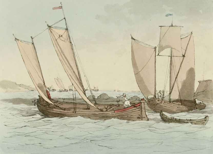 A Picturesque Representation of the Russians Vol. 2 - Ladoga Fishing Boats (1804)