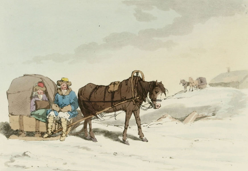 A Picturesque Representation of the Russians Vol. 2 - Common Travelling Sledge (1804)