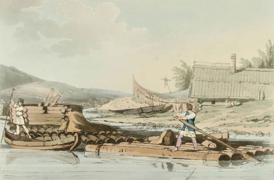 A Picturesque Representation of the Russians Vol. 2 - Rafts of Timber (1804)