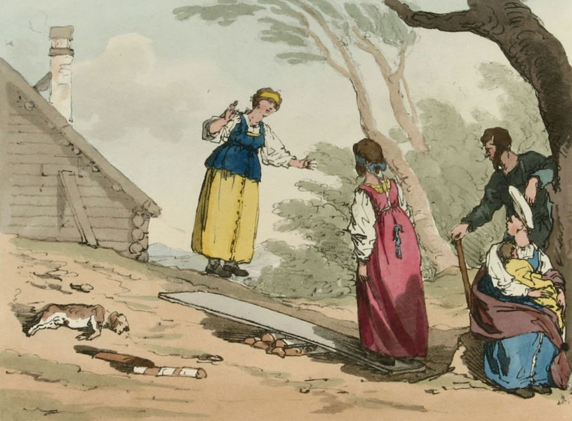 A Picturesque Representation of the Russians Vol. 2 - Jumping on a Board  (1804)