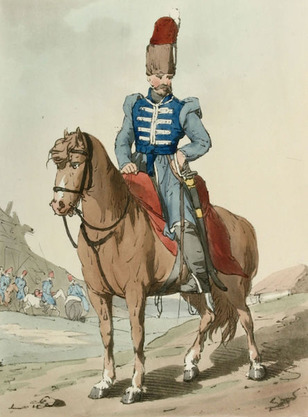 A Picturesque Representation of the Russians Vol. 2 - Cozack Officer (1804)