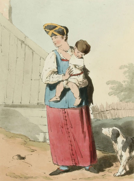 A Picturesque Representation of the Russians Vol. 2 - Peasant Woman & Child (1804)