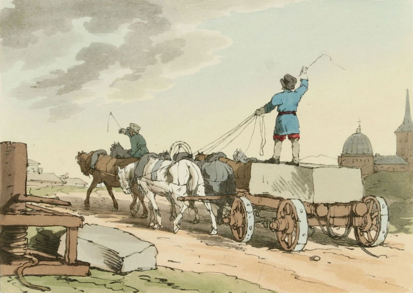 A Picturesque Representation of the Russians Vol. 2 - Stone Carriage (1804)