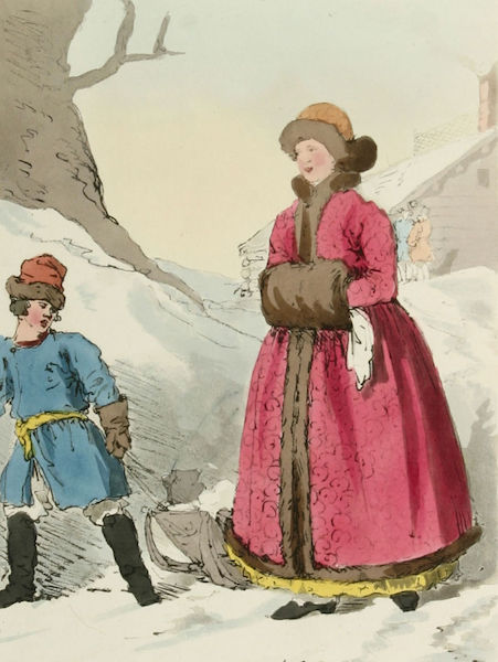 A Picturesque Representation of the Russians Vol. 3 - Russian Woman in her Winter Dress (1804)