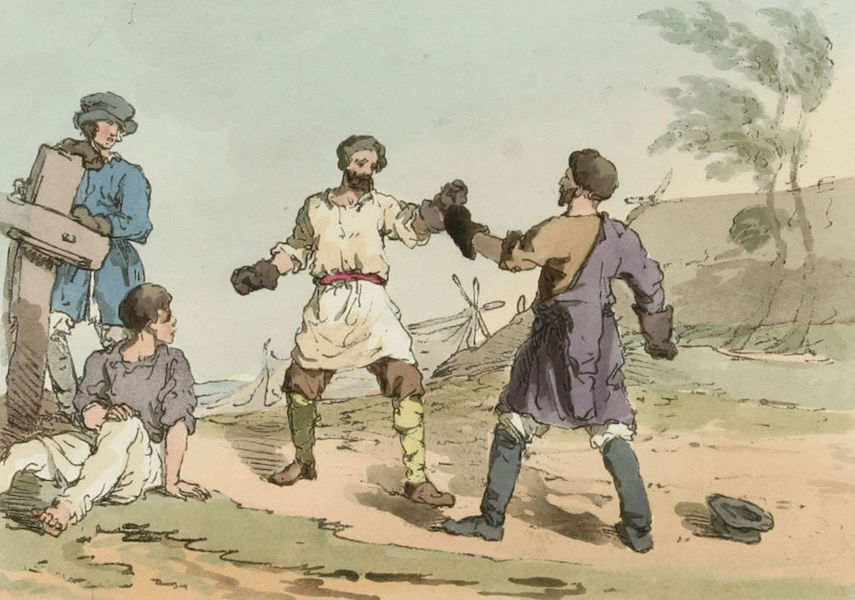 A Picturesque Representation of the Russians Vol. 3 - Boxing (1804)