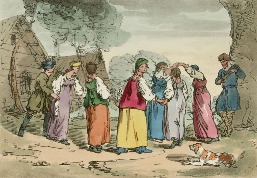 A Picturesque Representation of the Russians Vol. 3 - Village Amusements (1804)