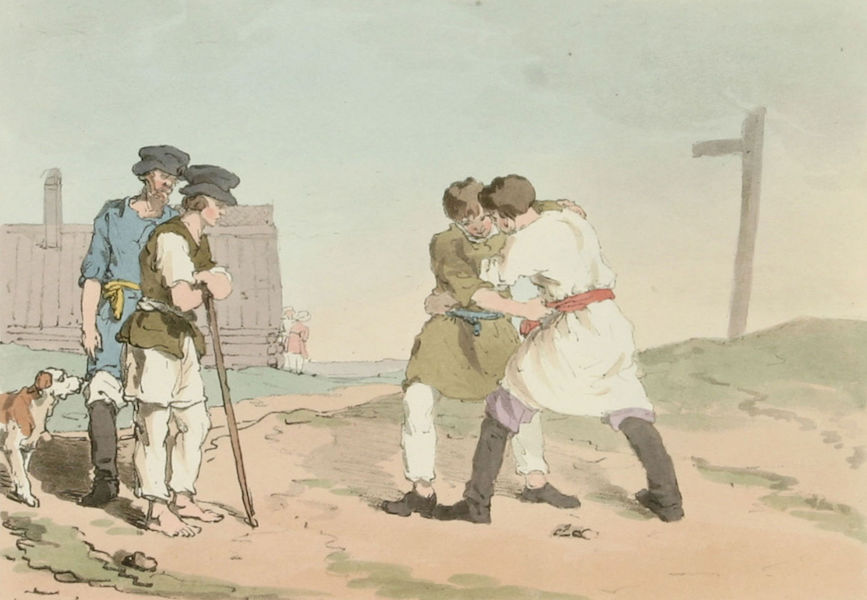 A Picturesque Representation of the Russians Vol. 3 - Wrestling (1804)