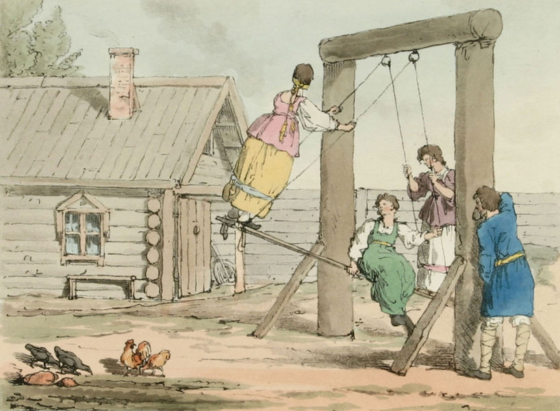 A Picturesque Representation of the Russians Vol. 3 - The Swing (1804)