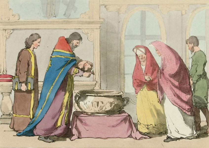 A Picturesque Representation of the Russians Vol. 3 - Baptism (1804)